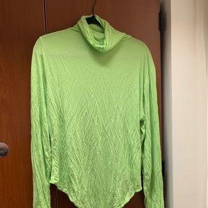 Lime Green turtleneck Bodysuit